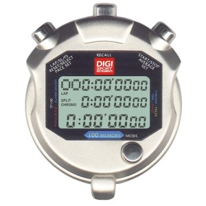 Digi Sports DT100 Metal Stopwatch - 100 Lap Stopwatch